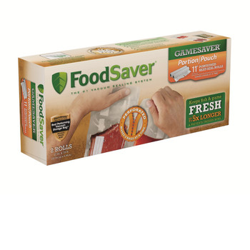 FoodSaver FSGSBF2626-000 FoodSaver GameSaver 11inX16ft Portion Pouch Heat-Seal 2 Pack
