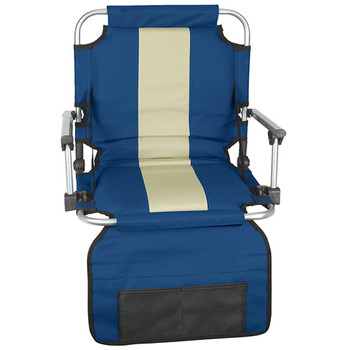 Stansport G-8-50 Stansport Stadium Seat With Arms - Blue/ Tan Stripe