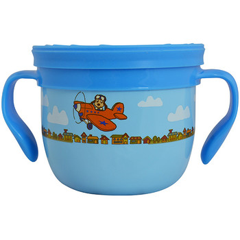Eco Vessel GNG2T-BD Eco Vessel Gobble N Go Snack Cup Blue with Dog on Plane