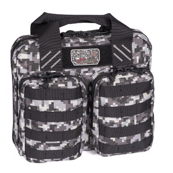 G Outdoors GPS-T1413PCGD G.P.S. Tactical Double + 2 Pistol Case - Gray Digital
