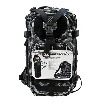 G Outdoors GPS-T1612BPRK G.P.S. Tactical Range Backpack - Gray Digital