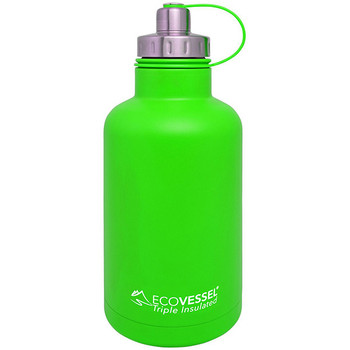 Eco Vessel GRL1900GN Eco Vessel The Boss Insulated Growler w/Infuser Green 64 oz