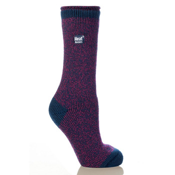 Grabber LHHTWSID Grabber Heat Holders Ladies Twist Crew Sock-Blue/Purple