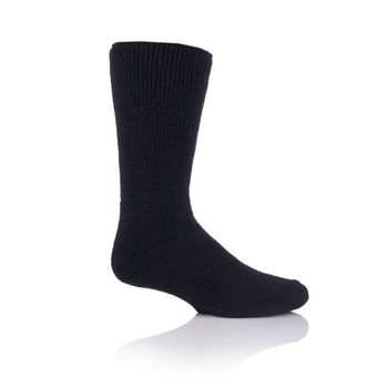 Grabber MHHWOLBLK Grabber Heat Holders Mens Wool Crew Sock-Black