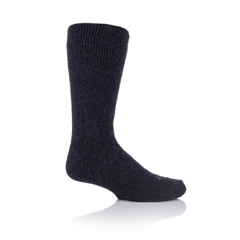 Grabber MHHWOLCHA Grabber Heat Holders Mens Wool Crew Sock-Charcoal