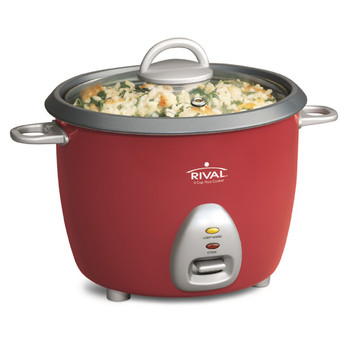 Rival RC61 Rival 6-Cup (Cooked) Rice Cooker - Red