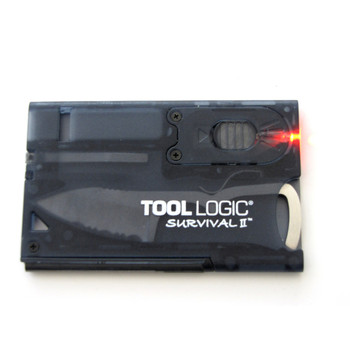 Tool Logic SVC2 Tool Logic Survival Card with Fire Starter Light Charcoal