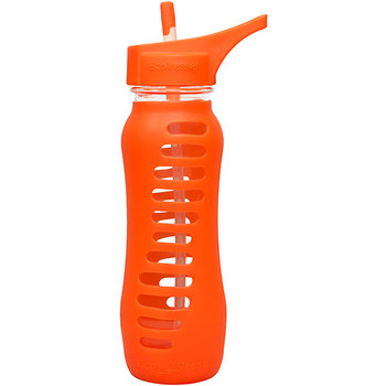 Eco Vessel SWG650STR-OS Eco Vessel Surf Sport Glass Bottle w/Flip Top Orange 22 oz.