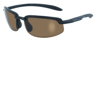 BlueWater Ty-Phoon BRN BlueWater Black Semi Frame Polarized Brown Lens