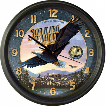 American Expedition WCLK -403 American Expedition Vintage Soaring Eagle Resort Clock