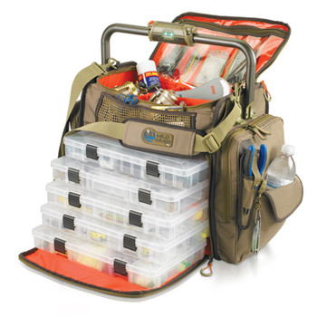 Wild River WT3702 Wild River Tackle Tek Frontier Lighted Tackle Bag 5 Trays