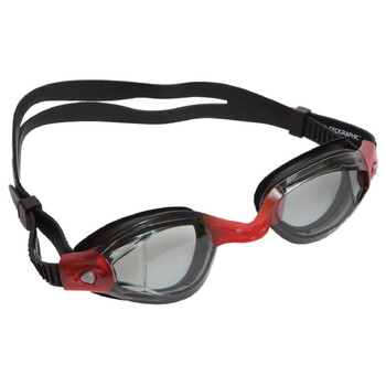 National Geographic Snorkeler Z289 Swim Goggle-Pearl Black & Red Nat Geo Z289 Swim Goggle-Smoke Lenses Pearl Blk/Red