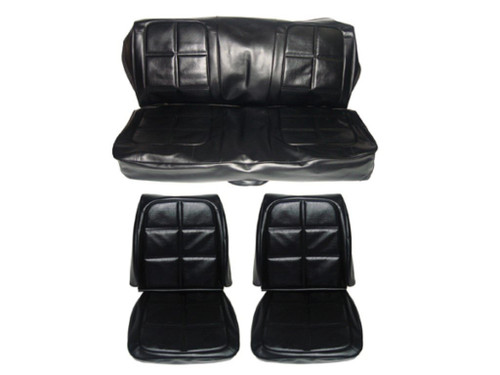7720-BUK 1969 Charger Front Bucket Rear Bench Seat Cover