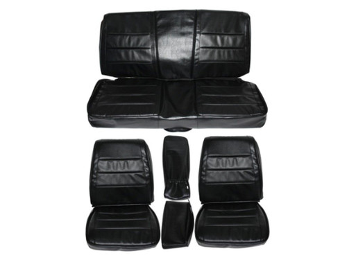 7719-BUK 1968 Charger Front Bucket Rear Bench Seat Cover Set