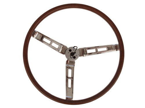260-69W Mopar 1966-69 A,B,C-Body Rallye Woodgrain Steering Wheel