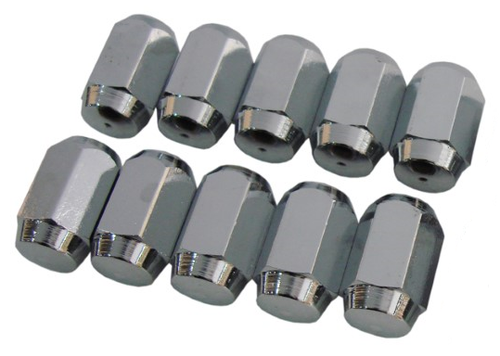 244-LHSET Mopar Wheel Center Cap Dimple Top Left Lug Nuts Set
