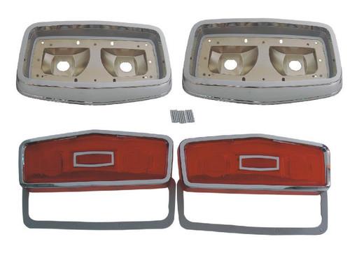 165-64BLKIT Mopar 1964 Plymouth Belvedere Taillight Kit