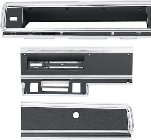 316-D67KIT Mopar 1967-69 Dodge Dart Dash Bezel Kit (no AC)