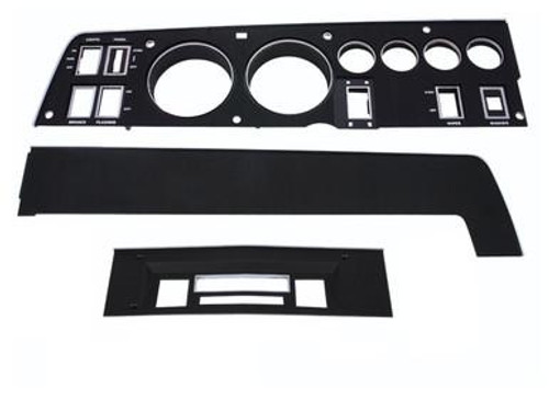 143-ACSET Mopar 1968 Dodge Charger Rallye Dash Bezel Kit (AM/FM - with AC)