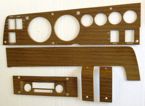 142W Mopar 1970 B-body Woodgrain Rallye Dash Bezel Kit