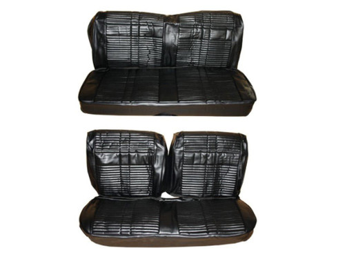 7707-BEN Mopar 1968 Roadrunner GTX Satellite Front Bench Rear Bench Seat Cover