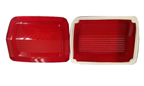 165SP-65L Mopar 1965 Plymouth Belvedere Taillight Lenses (without Trim)