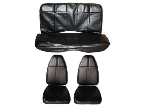 5505-BUK 1971 Cuda Barracuda Front Bucket Rear Bench Seat