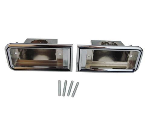 1305-66 Mopar 1966 Dodge Coronet Back-Up Light Bezels