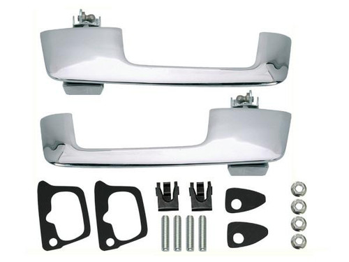 159 Mopar A,B-Body Outside Door Handles (Chrome Button)