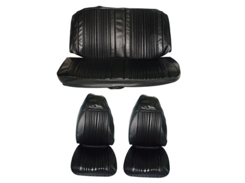6613-BUK 1971 Dart Swinger Front Bucket Rear Bench Seat Cover