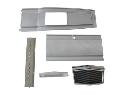 131-6SET Mopar 1966-70 B-body 4 Speed Console Plate Kit