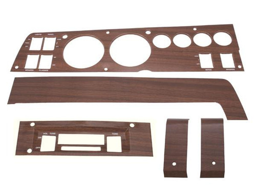 141W Mopar 1969 B-body Woodgrain Rallye Dash Bezel Kit