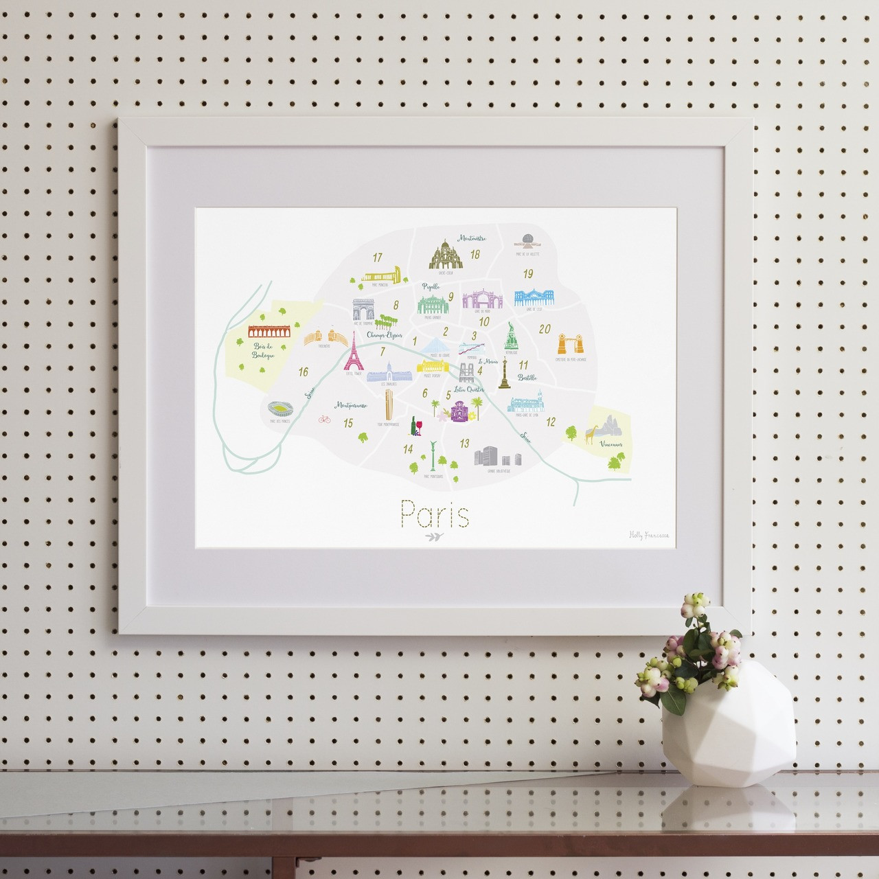 Attractive Map Prints - Rest of World art prints - Holly Francesca KR63