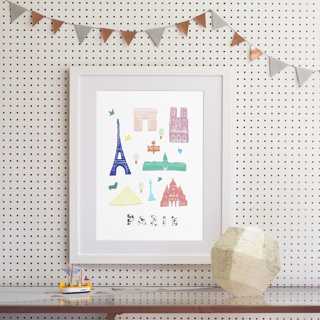 Attractive Paris - Papercut Art Print (Various Sizes) - Holly Francesca FR58