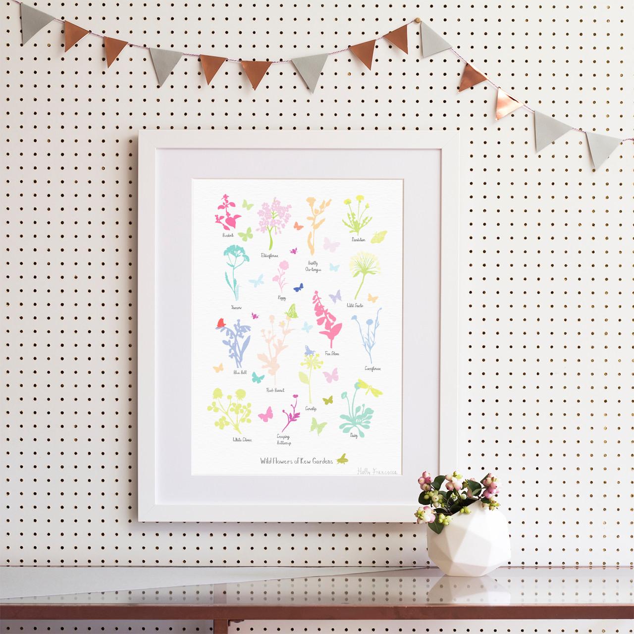Wildflowers of Kew Gardens Art Print (Various Sizes) - Holly Francesca