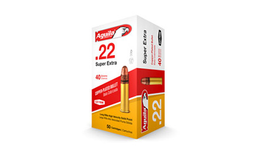 Aguila .22 Super Extra / Long Rifle High Velocity Copper-Plated Solid Point