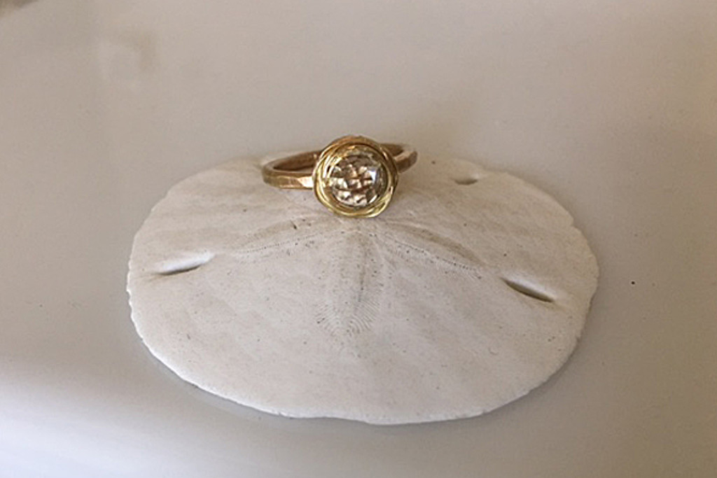 Evangeline Yellow Gold Engagement Ring