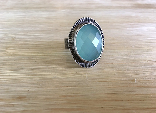 Large Oval Halo Ring