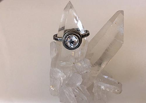 Nested White Topaz Engagement Ring