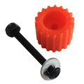 PSD KoMotion FootStop, Orange Comes with a nut, bolt, washer & 2 stickers