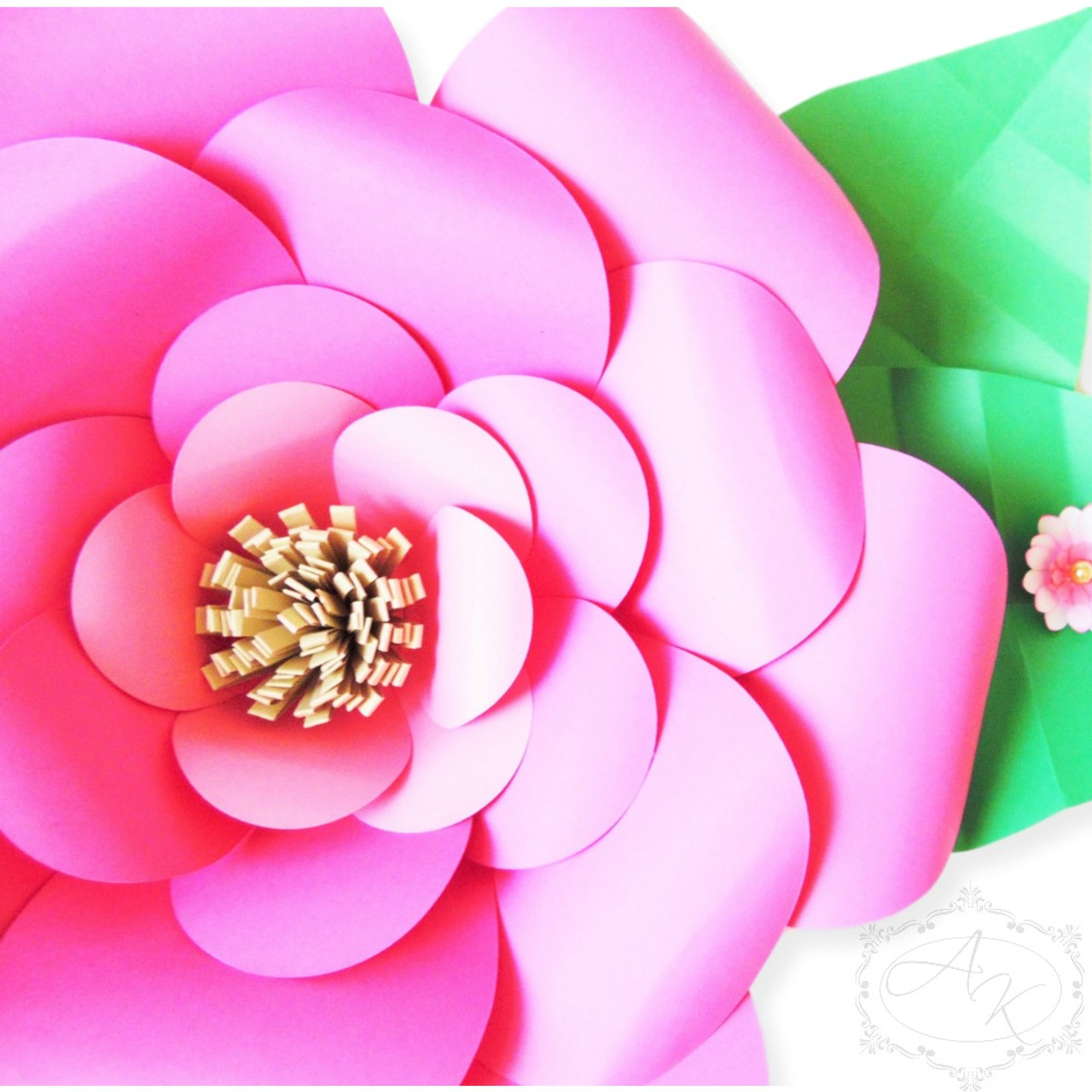 Everly Style Giant Paper Flower Templates Catching Colorflies
