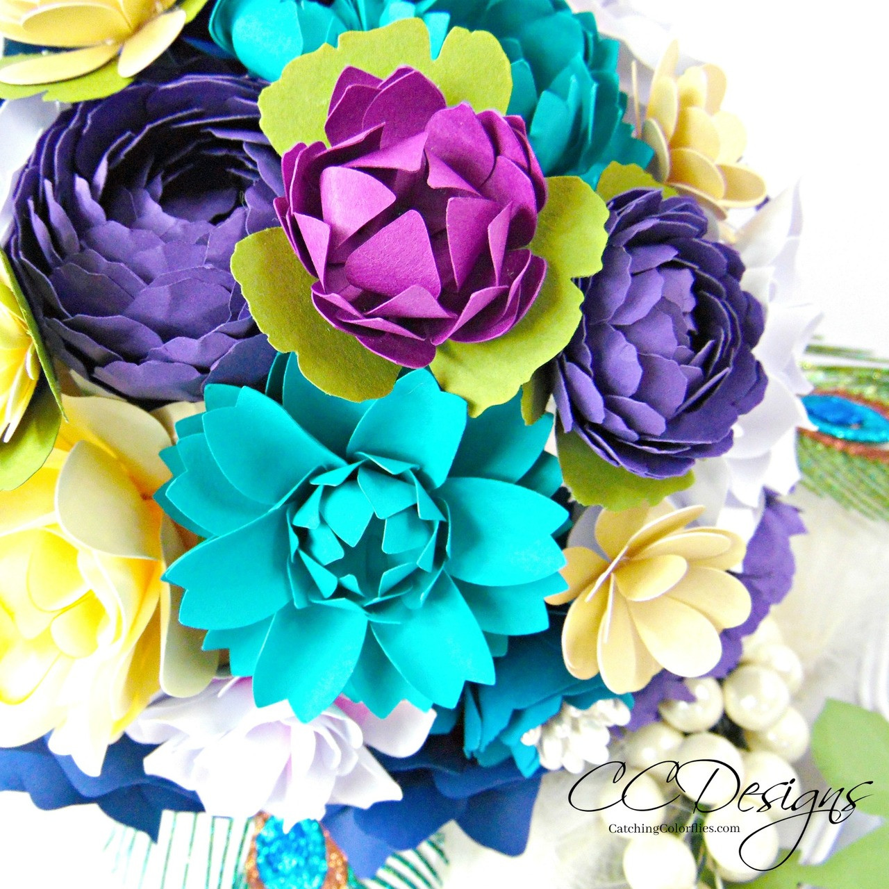 Set Of 5 Small Flower Templates Paper Flower Bouquet How To