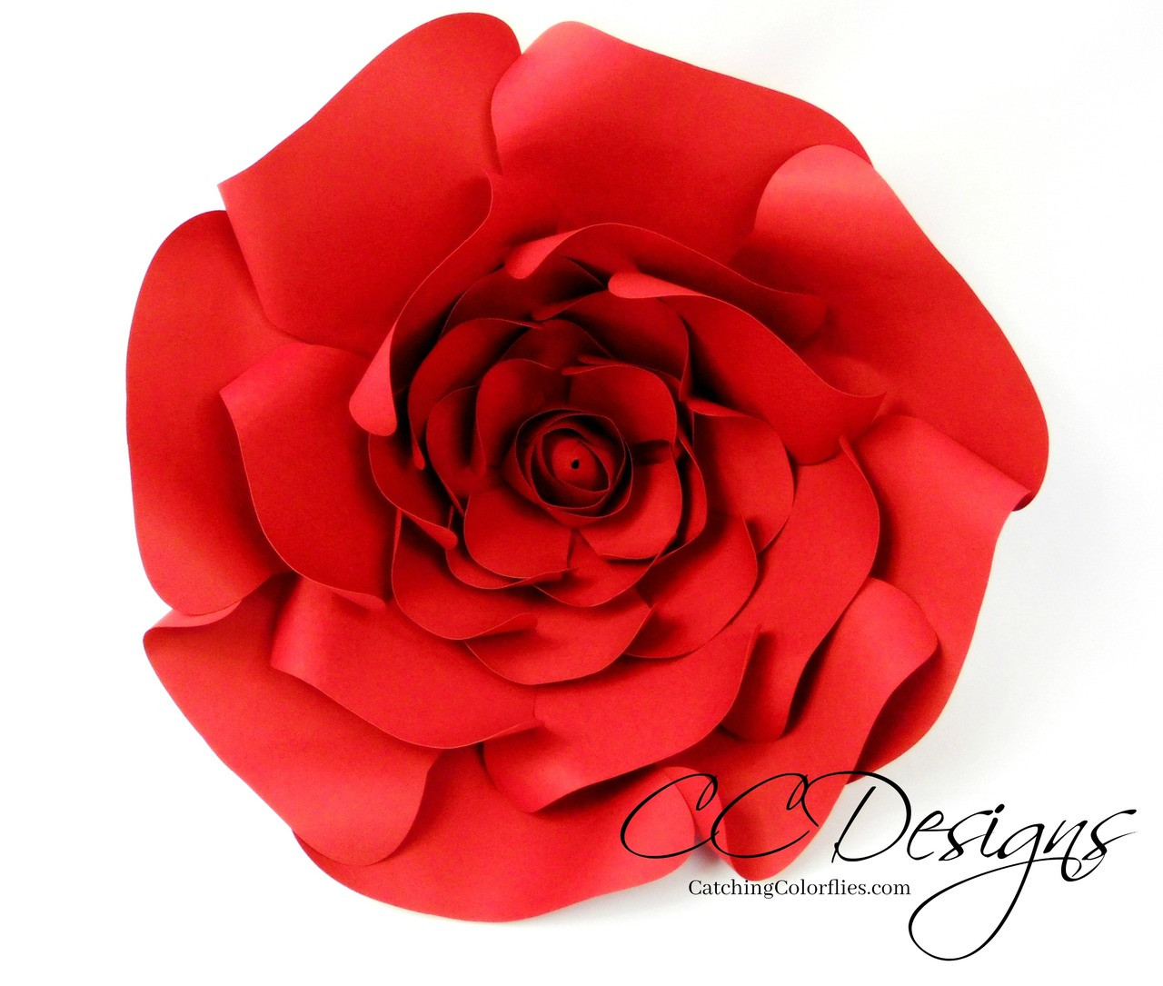 Majesty Style Rose Giant Paper Rose Templates Catching Colorlfies