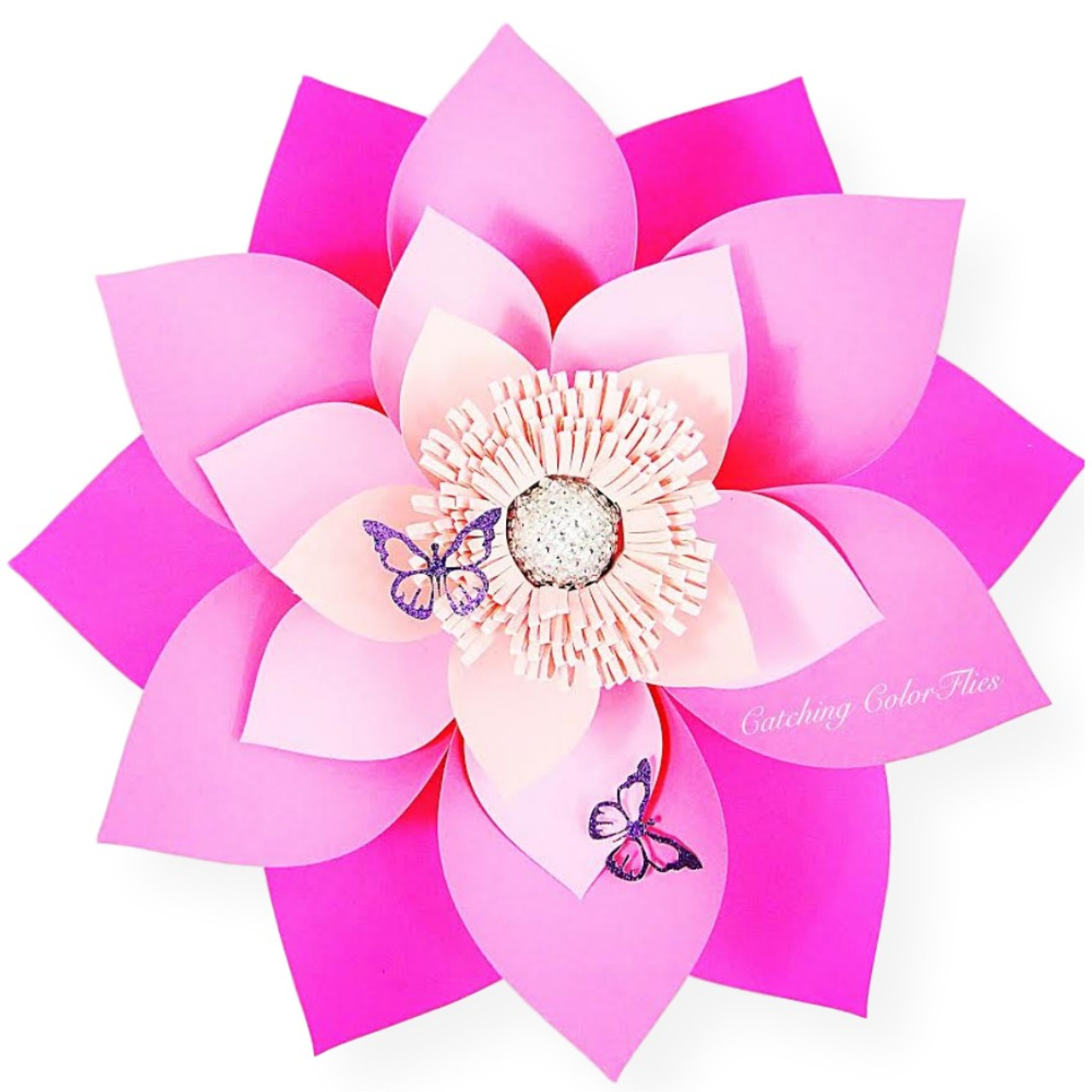 Alana style giant flower templates catching colorlfies izmirmasajfo