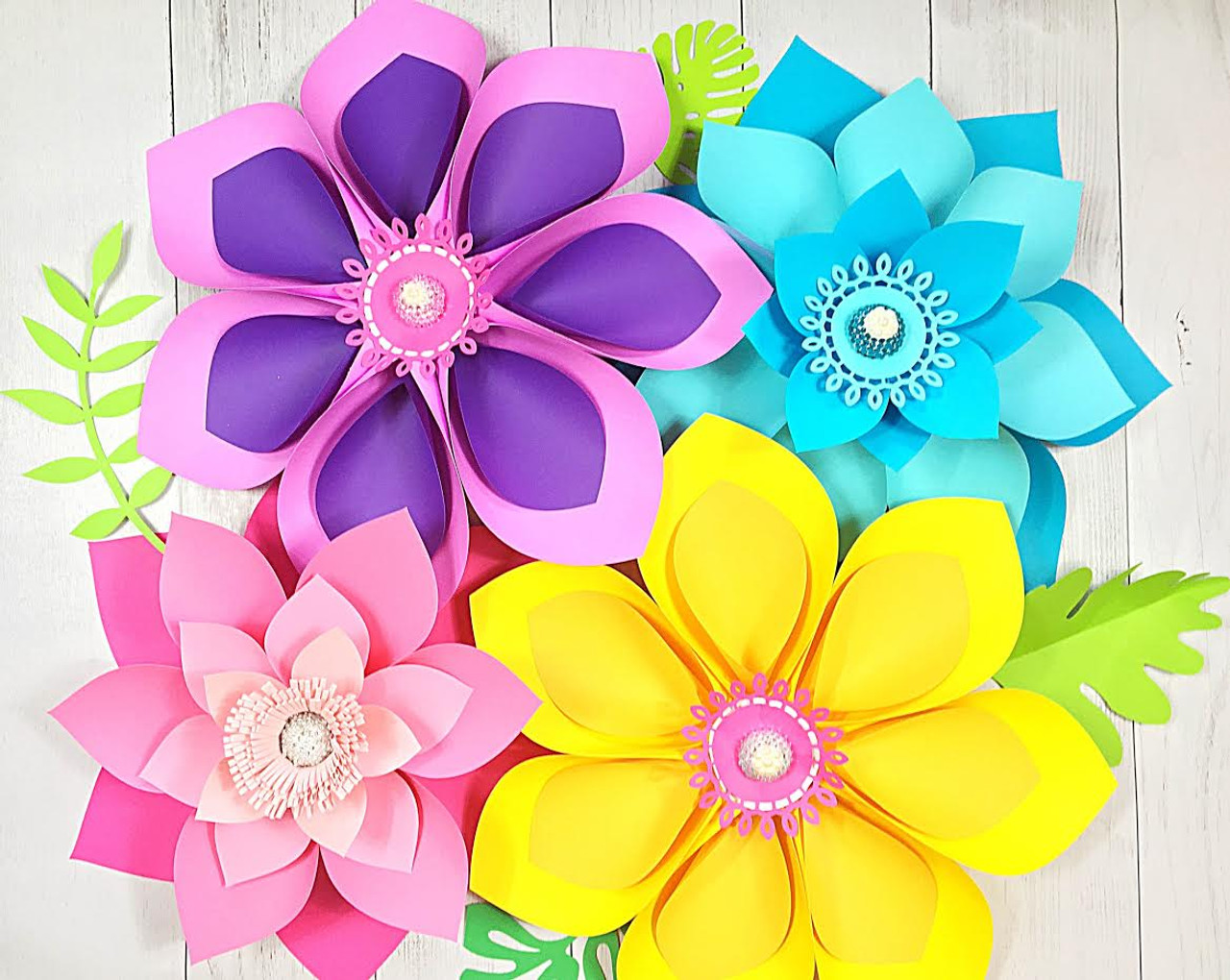 hawaiian paper flower templates  u0026 tutorial