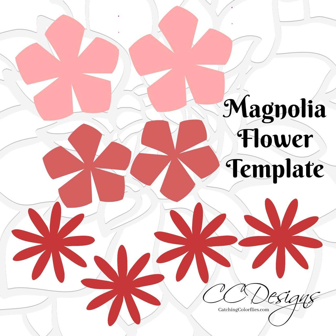 Magnolia paper flower template catching colorlfies digital download magnolia paper flower template maxwellsz