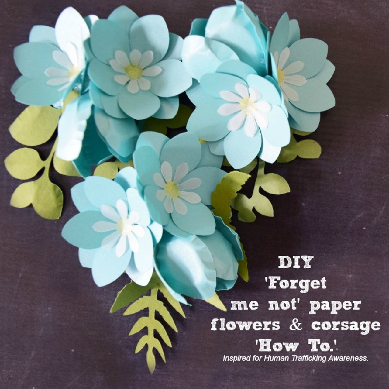 Forget me not paper flower templates catching colorlfies mightylinksfo