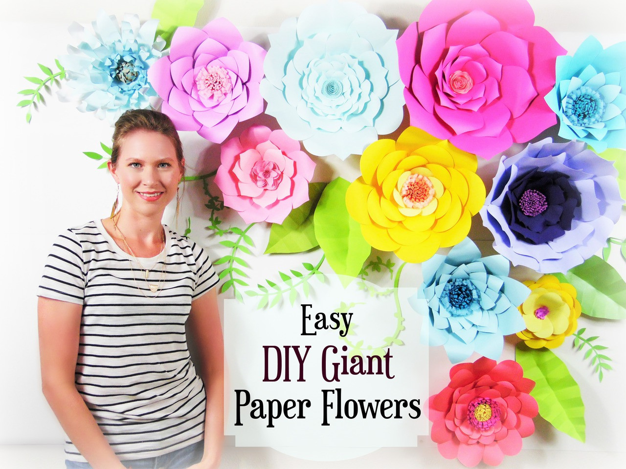 Set of 5 giant flower templates diy paper flower wall catching set of 5 giant flower templates diy paper flower wall catching colorflies mightylinksfo