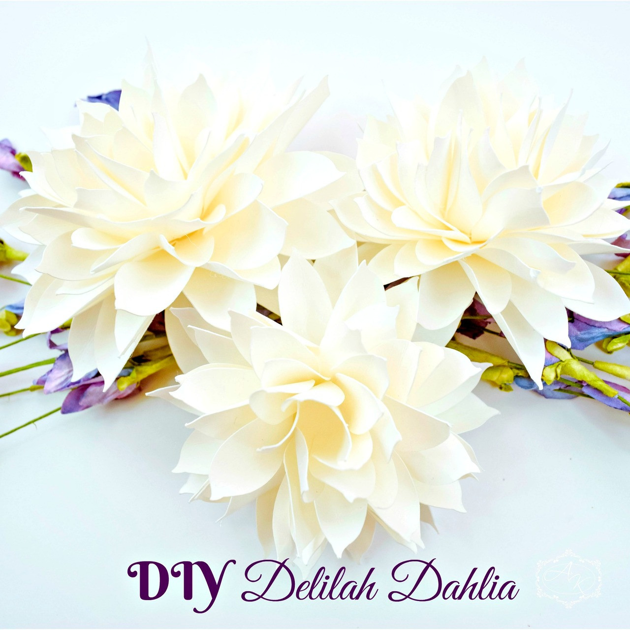 Delilah dahlia style paper flower template catching colorflies izmirmasajfo