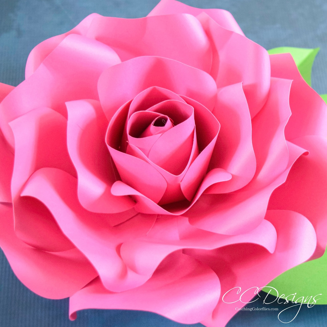 Alora Garden Giant Paper Rose Template Tutorial Catching Colorflies